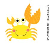 Fiddler Crab Animal Cartoon...