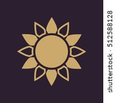 the sun icon. sunrise and... | Shutterstock .eps vector #512588128