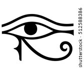 the ancient egyptian moon sign  ... | Shutterstock .eps vector #512588386