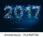 magic background new year 2017   Shutterstock . vector #512589760