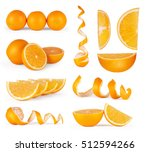 collection of orange  slice and ... | Shutterstock . vector #512594266