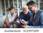 senior couple planning their... | Shutterstock . vector #512597209