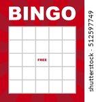 bingo card. | Shutterstock .eps vector #512597749