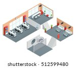 color isometric design of bank... | Shutterstock .eps vector #512599480