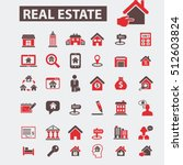 real estate icons | Shutterstock .eps vector #512603824