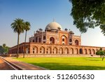 humayun's tomb in new delhi ... | Shutterstock . vector #512605630
