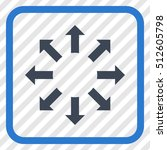 expand arrows smooth blue... | Shutterstock .eps vector #512605798