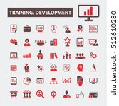 training development icons  | Shutterstock .eps vector #512610280