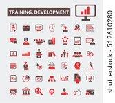 training development icons    Shutterstock .eps vector #512610280