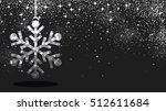 Black Winter Background With...