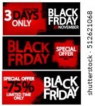 set black friday sale posters ... | Shutterstock .eps vector #512621068