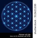 flower of life   intersecting... | Shutterstock .eps vector #512621230