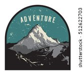 mountains badge or emblem.... | Shutterstock .eps vector #512622703