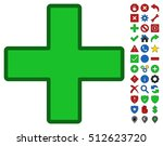 green plus toolbar pictogram...