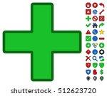 Green Plus Toolbar Pictogram...