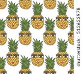 seamless pattern with hand... | Shutterstock .eps vector #512623978