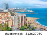 barceloneta luxury beach and... | Shutterstock . vector #512627050