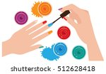 woman hands with manicure...   Shutterstock .eps vector #512628418