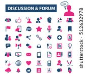 discussion forum icons | Shutterstock .eps vector #512632978