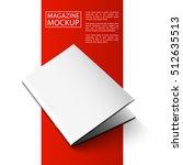 blank magazine mockup template. ... | Shutterstock .eps vector #512635513