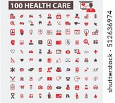 health care icons  | Shutterstock .eps vector #512636974
