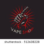 vape shop badge  logo or symbol ... | Shutterstock . vector #512638228