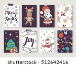 christmas and new year gift... | Shutterstock .eps vector #512642416