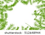 frame with fir branches. vector | Shutterstock .eps vector #512648944