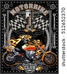 vintage motorcycle label with... | Shutterstock .eps vector #512652370
