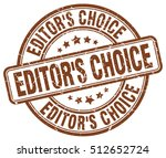 editor's choice stamp. brown... | Shutterstock .eps vector #512652724