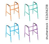 patient walking tool vector. | Shutterstock .eps vector #512656258