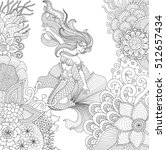 zendoodle design ofmermaid...