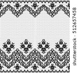 seamless lace pattern  flower... | Shutterstock .eps vector #512657458
