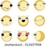 funny faces set | Shutterstock .eps vector #512657908