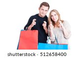 handsome couple holding... | Shutterstock . vector #512658400