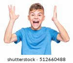 half length emotional portrait... | Shutterstock . vector #512660488