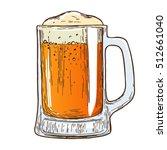 beer mug on white background.... | Shutterstock .eps vector #512661040
