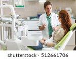 female dentist in dental office ... | Shutterstock . vector #512661706