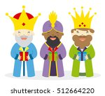 the three kings of orient | Shutterstock .eps vector #512664220
