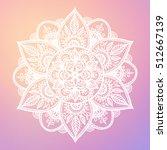 round mandala on dreamy... | Shutterstock .eps vector #512667139