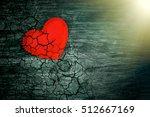 Decorative Heart On Dark Wooden ...