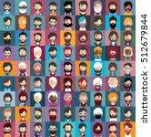 set of no shave november people ... | Shutterstock .eps vector #512679844
