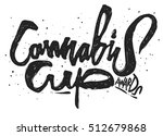 cannabis cup awards. vector... | Shutterstock .eps vector #512679868