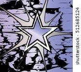 tanzanite colored rock n roll... | Shutterstock .eps vector #512685124
