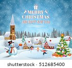 happy new year and merry... | Shutterstock .eps vector #512685400