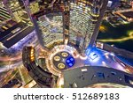 night aerial view of a modern... | Shutterstock . vector #512689183
