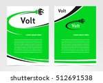 brochure volt electric template ... | Shutterstock .eps vector #512691538