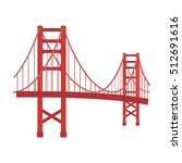 golden gate bridge icon in... | Shutterstock .eps vector #512691616