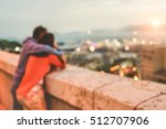 blurred couple in love sharing... | Shutterstock . vector #512707906