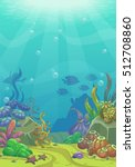 cartoon underwater vector... | Shutterstock .eps vector #512708860